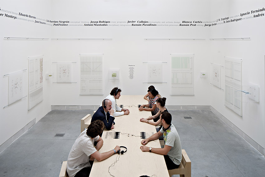 Herreros Arquitectos: Dialogue Architecture. Installation in the Venice Biennale 2012, photo: Javier Callejas.