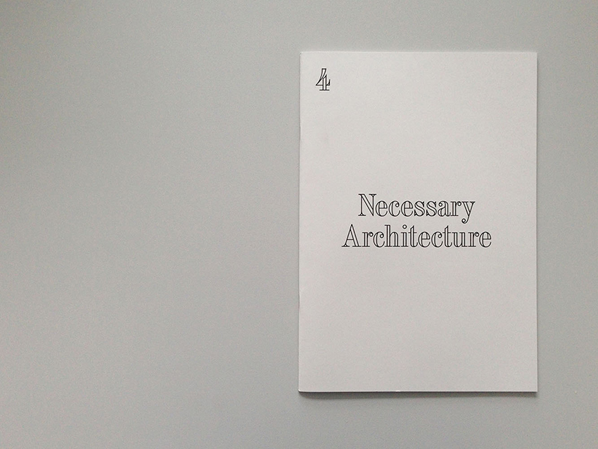 Architecture without content, booklet 4. Image courtesy of OFFICE.