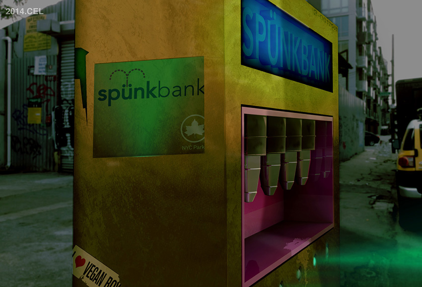Detail, Spunkbank vending dispensary. Image courtesy of Mustafa Faruki and the Lab-lab.