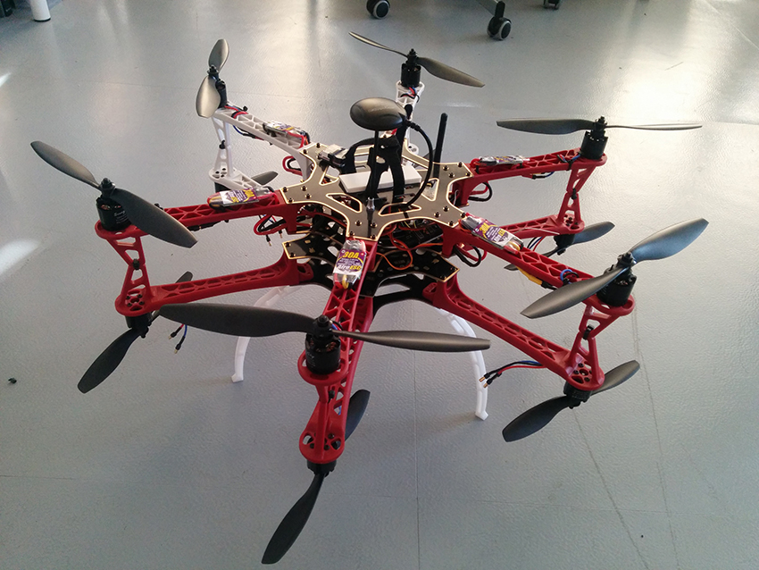 Prototypes of Madison and Routehawk drones. Image courtesy of Superflux.