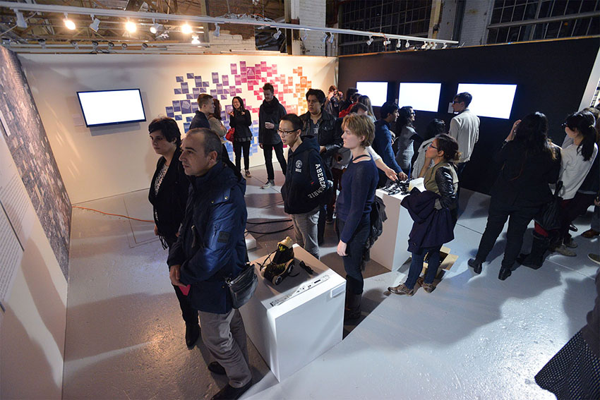 Hacking Geodemography exhibition at Taubman College, 2013. Image courtesy of McLain Clutter, Master of None.