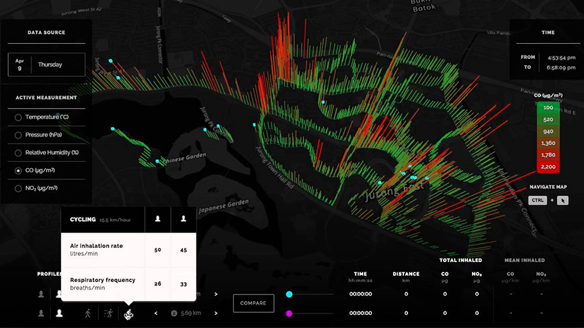 AirScapes Singapore: web interface. Image courtesy of SENSEable City Lab. http://eoe.airscapes.io.